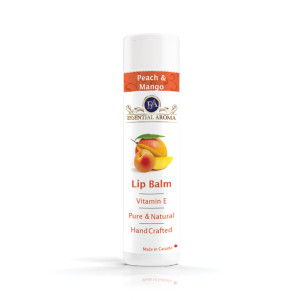 Peach Mango Lip Balm - Bottle label
