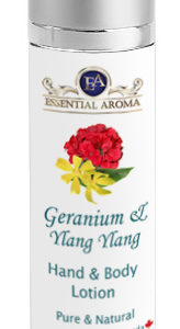 Geranium H&B Lotion Bottle Label