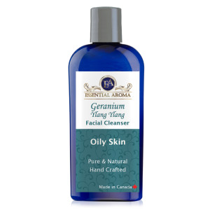 Geranium Ylang Ylang Facial Cleanser Bottle Label