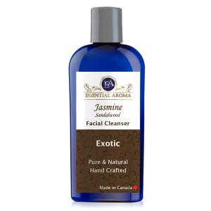 Jasmine Sandalwood Facial Cleanser Bottle Label