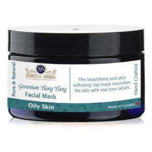 Geranium Ylang Ylang Mask Bottle Label