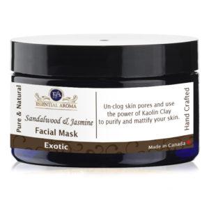 Jasmine Sandalwood Mask Bottle Label