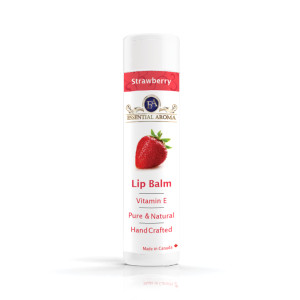 Strawberry Lip Balm - Bottle label