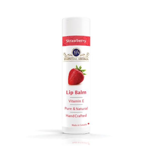 Strawberry Lip Balm – Bottle label